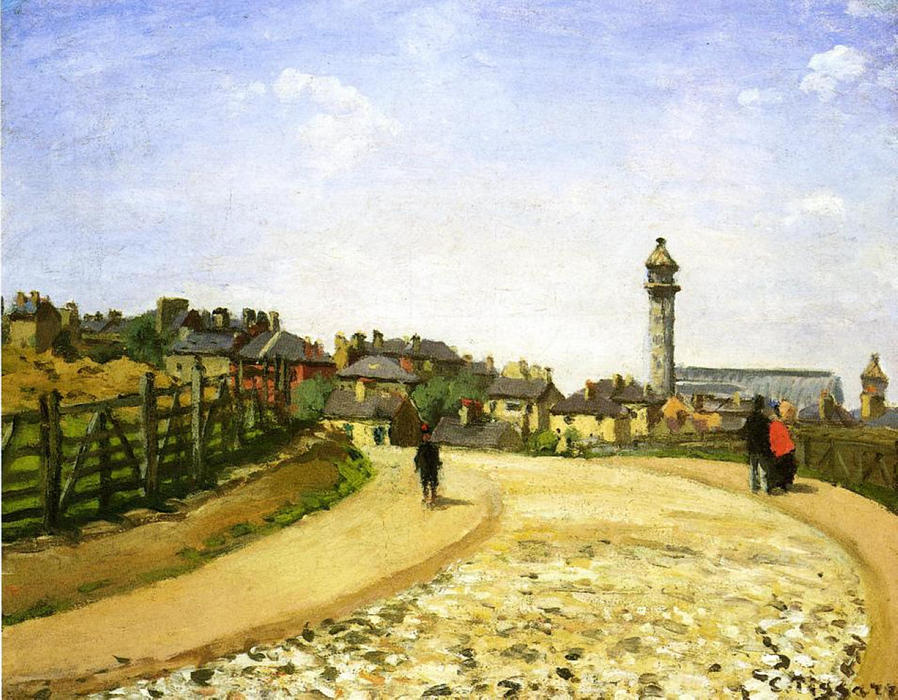 famous painting Upper Norwood, Chrystal Palace, London of Camille Pissarro