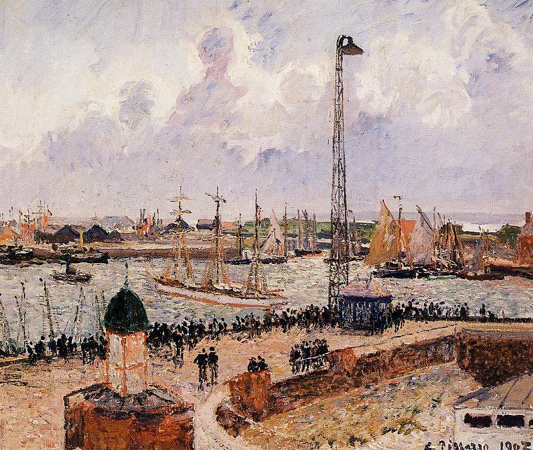 famous painting The Inner Harbor, Havre of Camille Pissarro