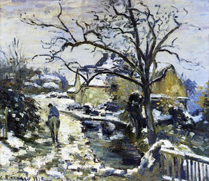 Camille Pissarro - Winter at Montfoucault 2