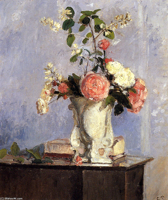 famous painting Bouquet of Flowers of Camille Pissarro