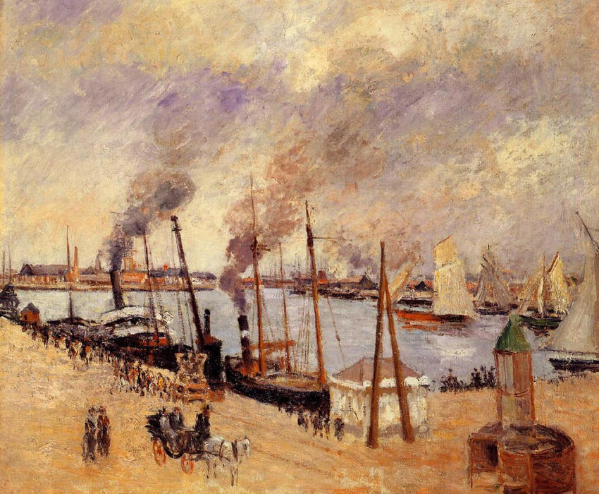 famous painting The Port of Le Havre 2 of Camille Pissarro