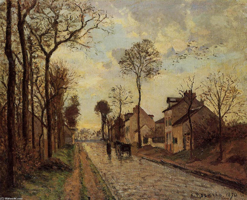 famous painting The Louveciennes Road of Camille Pissarro