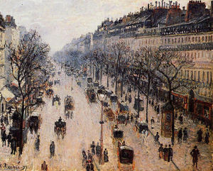 Camille Pissarro - Boulevard Montmartre Winter Morning