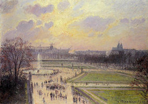 Camille Pissarro - The Bassin des Tuileries, Afternoon