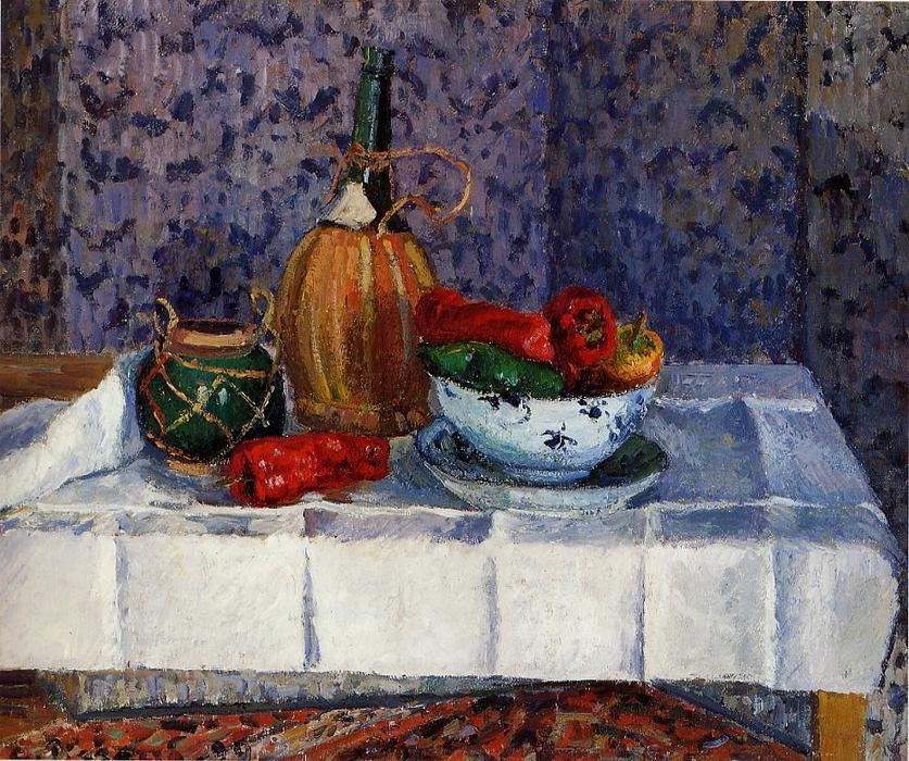 famous painting Still Life with Peppers of Camille Pissarro