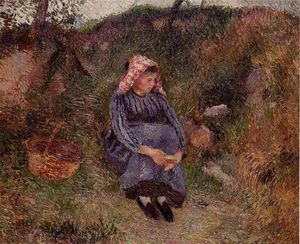 Camille Pissarro - Seated Peasant Girl