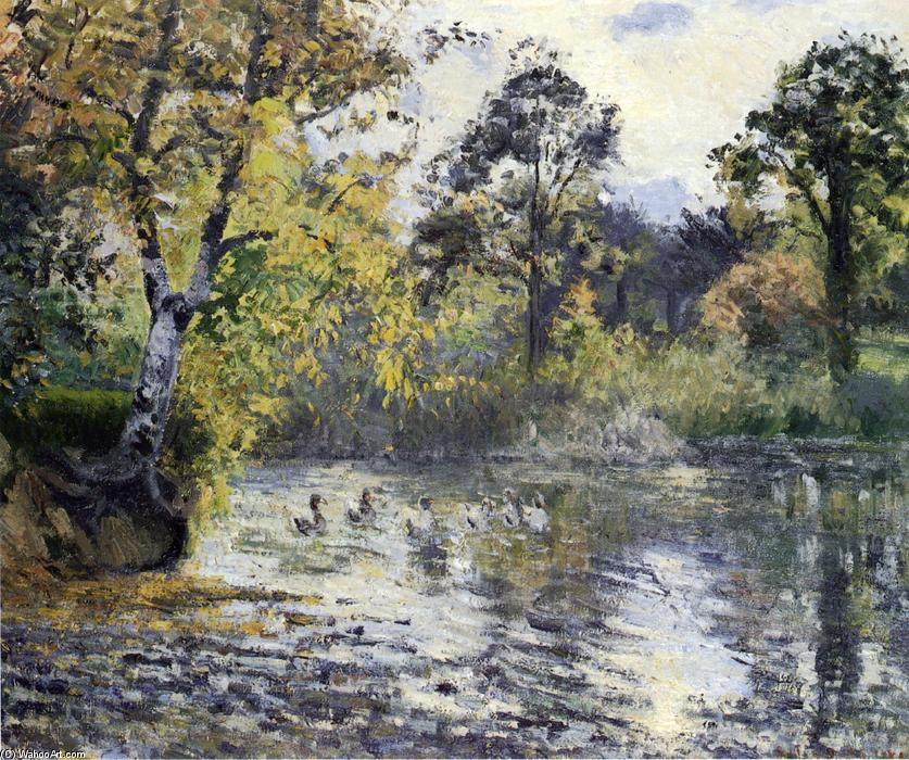 famous painting The Pond at Montfoucault of Camille Pissarro