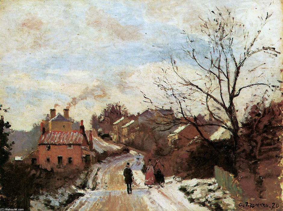 famous painting Lower Norwood of Camille Pissarro