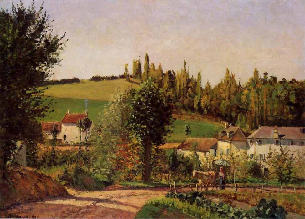 famous painting Path of Hermitage at Pontoise of Camille Pissarro