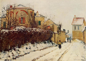 Camille Pissarro - The street of the Citadelle, Pontoise