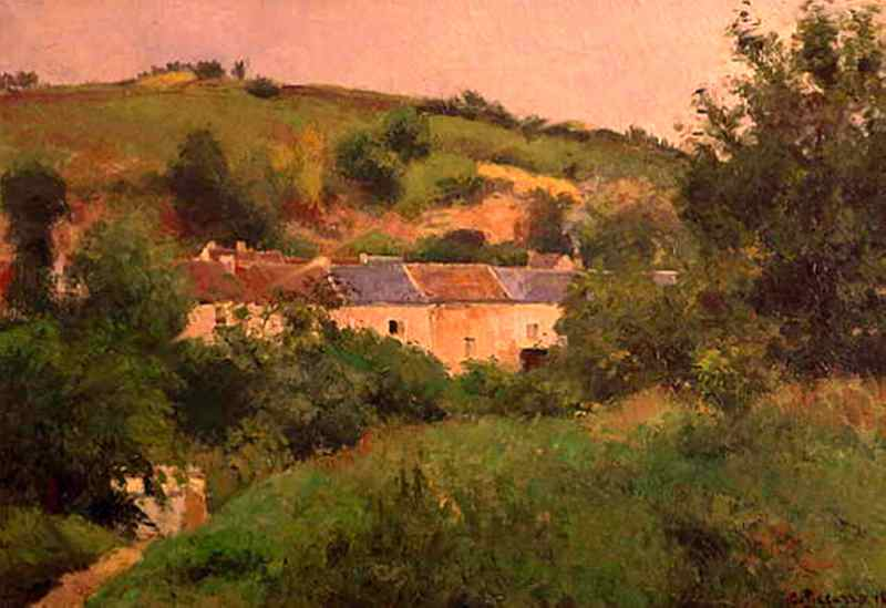 famous painting The Path in the Village of Camille Pissarro