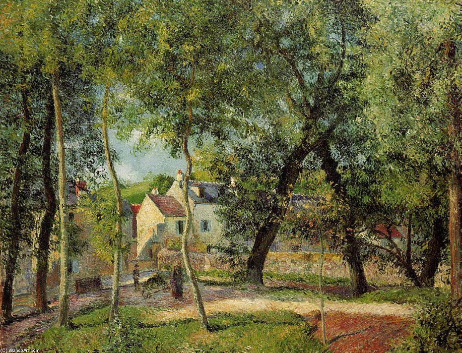 famous painting Landscape at Osny near watering of Camille Pissarro