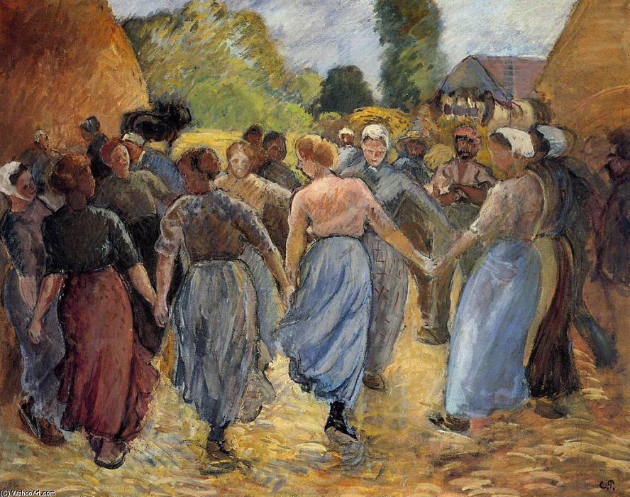 famous painting The Roundelay of Camille Pissarro