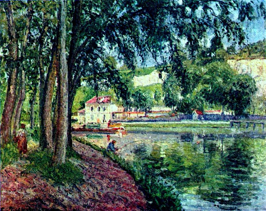 famous painting Summer Fishing of Camille Pissarro