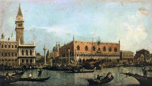 Giovanni Antonio Canal (Canaletto) - The Molo and the Piazzetta San Marco, Venice
