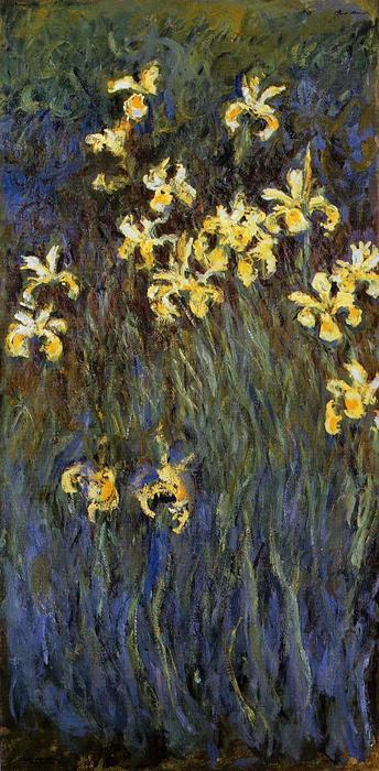 famous painting The Yellow Irises of Claude Monet