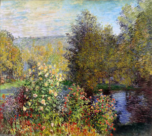 Claude Monet - A Corner of the Garden at Montgeron