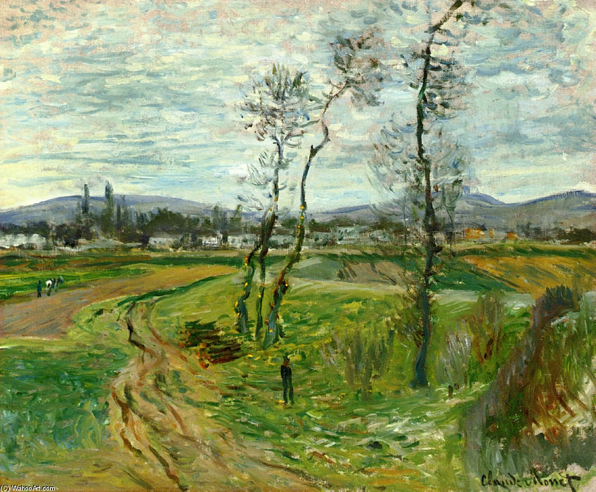 famous painting Gennevilliers Plain of Claude Monet