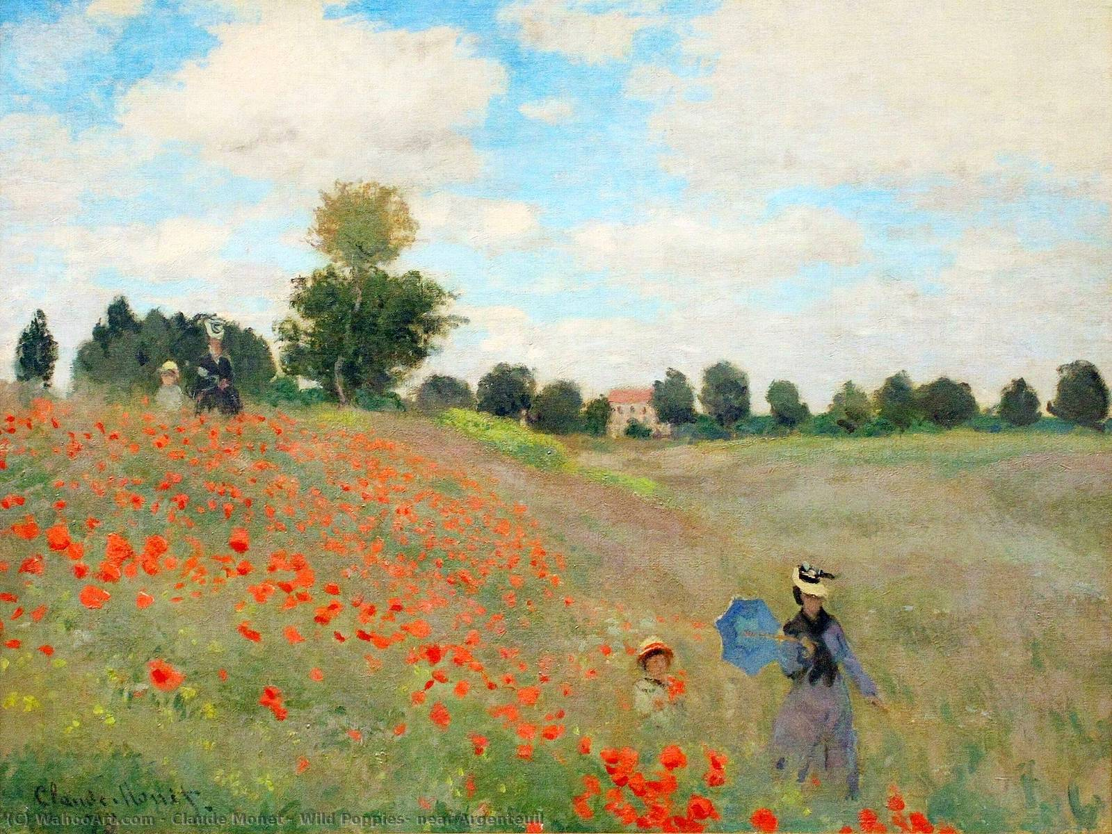 famous painting Wild Poppies, near Argenteuil of Claude Monet