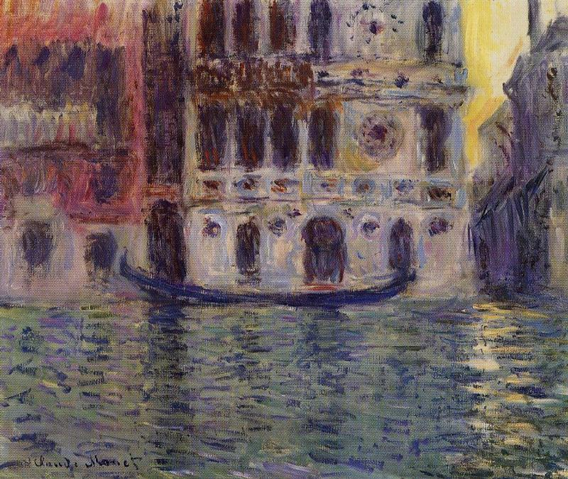 famous painting Palazzo Dario of Claude Monet