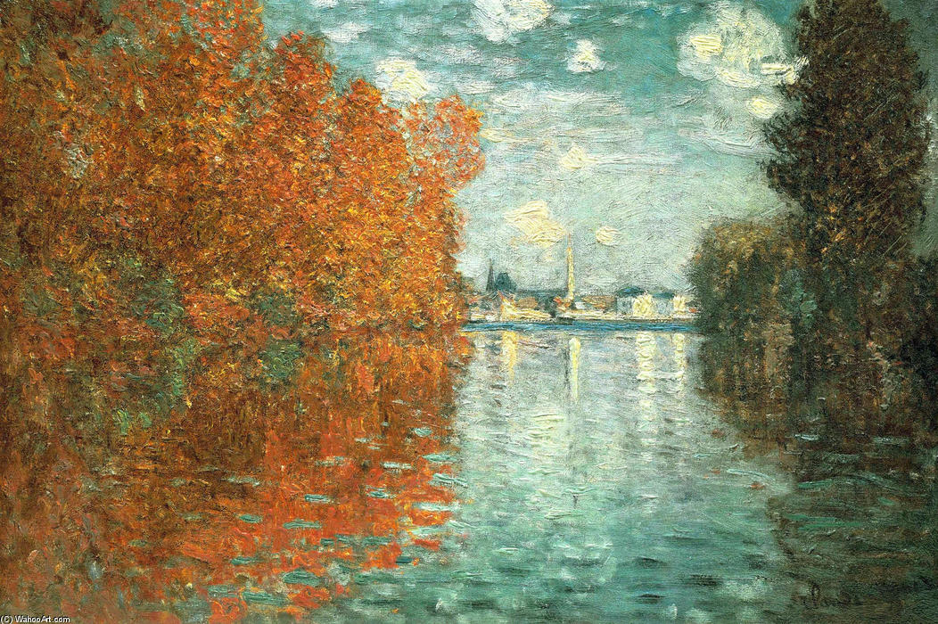 famous painting Autumn Effect at Argenteuil of Claude Monet
