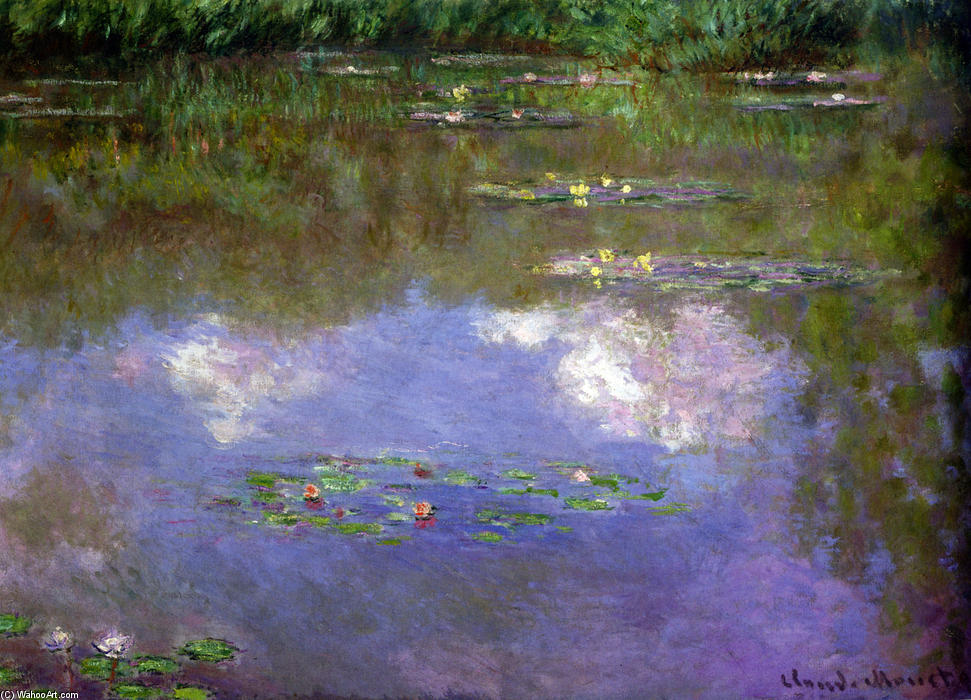 famous painting Water Lilies, The Clouds of Claude Monet