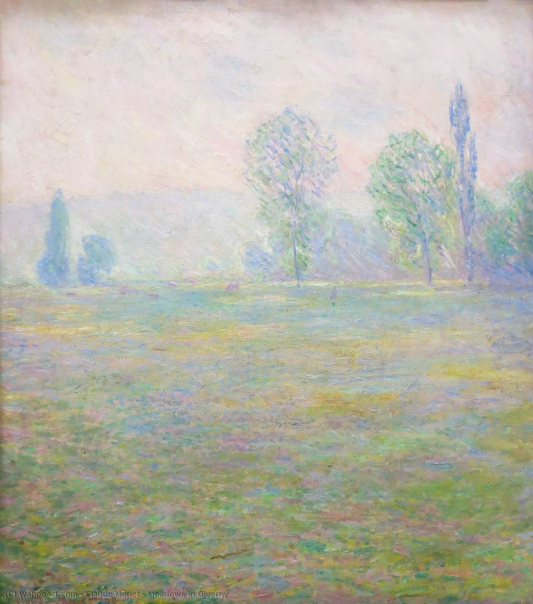 famous painting Meadows in Giverny of Claude Monet