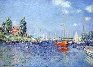 Claude Monet - Red Boats, Argenteuil, 1875 (oil on canvas)