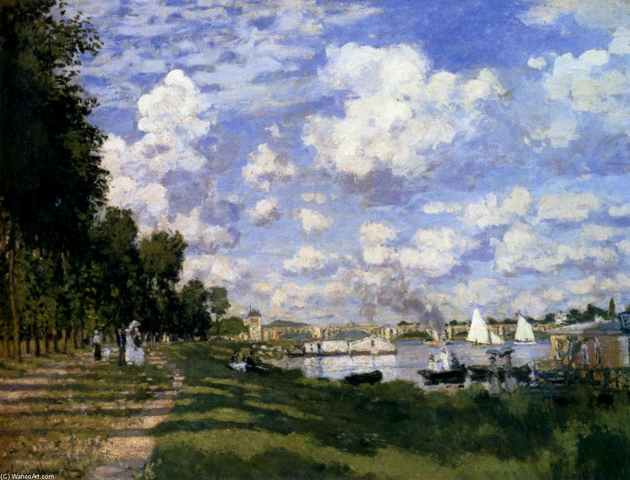 famous painting The Marina at Argenteuil of Claude Monet