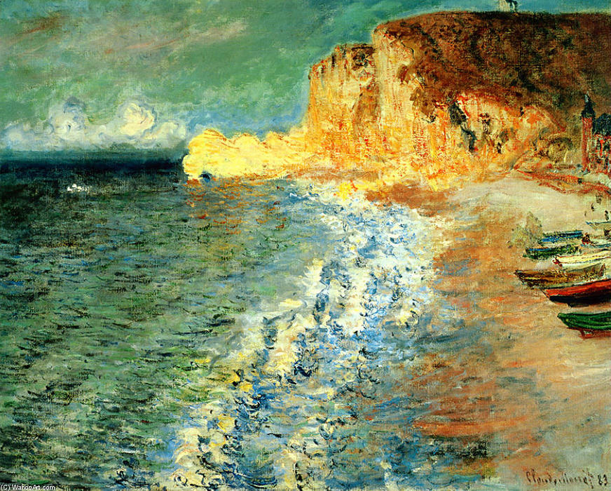 famous painting Morning at Etretat of Claude Monet