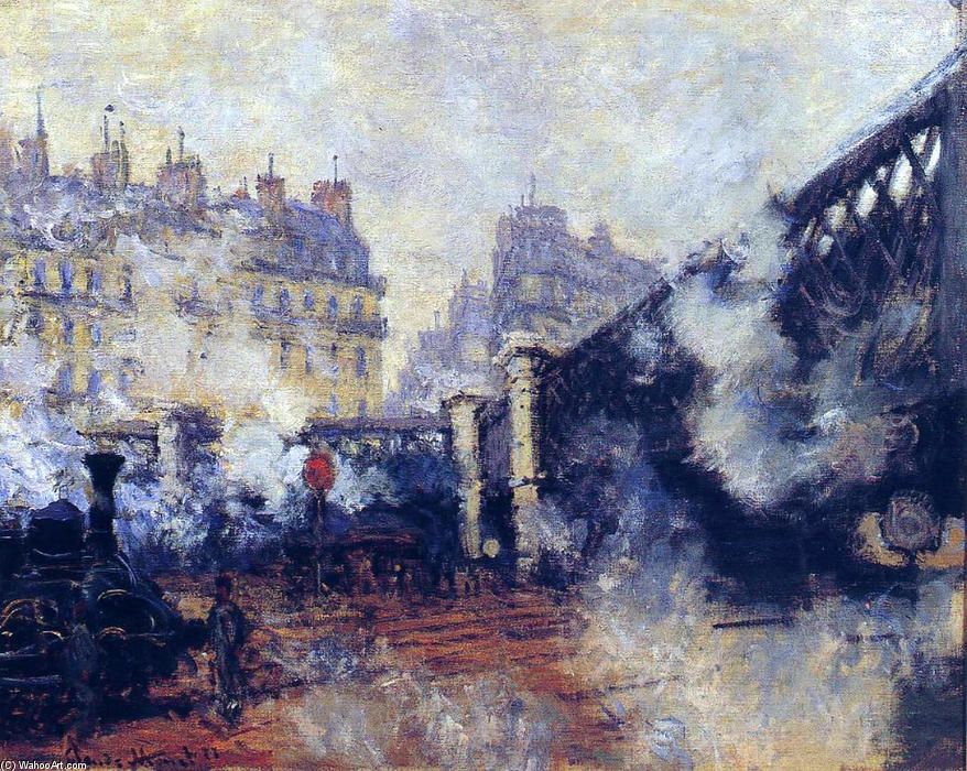 famous painting The Pont de l'Europe, Gare Saint-Lazare of Claude Monet