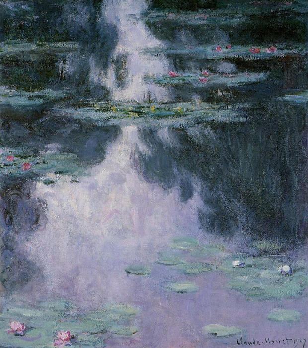 famous painting Water Lilies (Nympheas) of Claude Monet