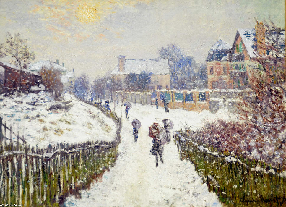 famous painting Boulevard Saint-Denis, Argenteuil, in Winter of Claude Monet