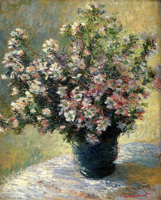 famous painting Vase of Flowers of Claude Monet
