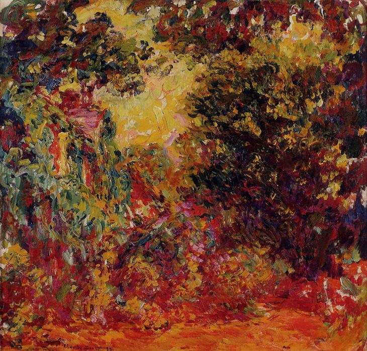 famous painting The Artist's House from the Rose Garden of Claude Monet
