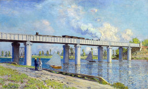 Claude Monet - Railway Bridge at Argenteuil