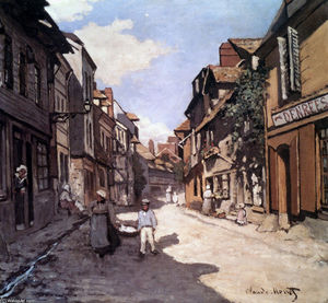 Claude Monet - Street of the Bavolle Honfleur