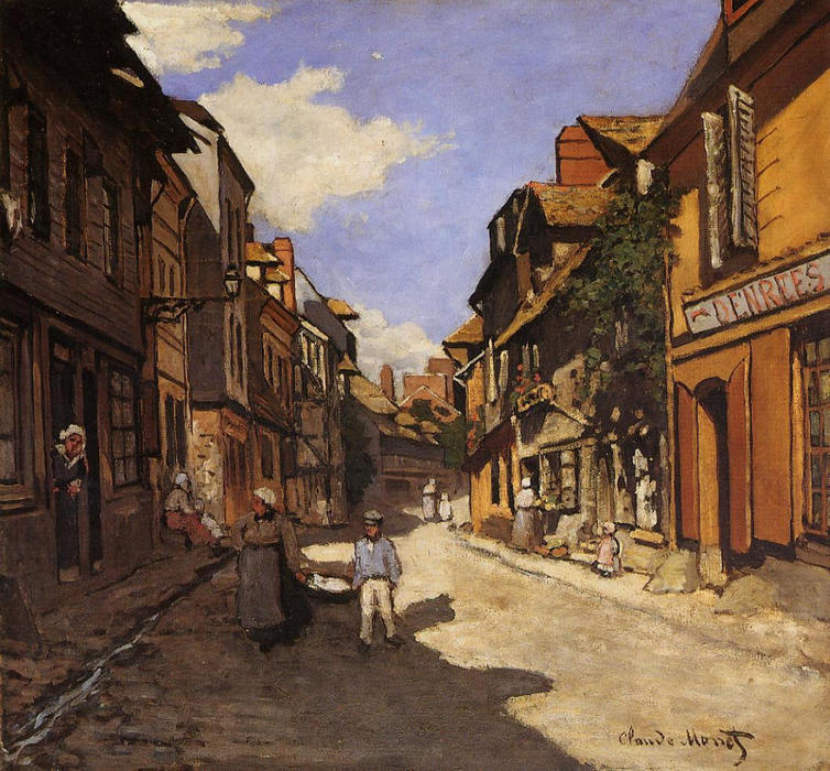 famous painting The La Rue Bavolle at Honfleur 2 of Claude Monet