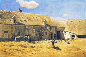 Claude Monet - Farmyard at Chailly