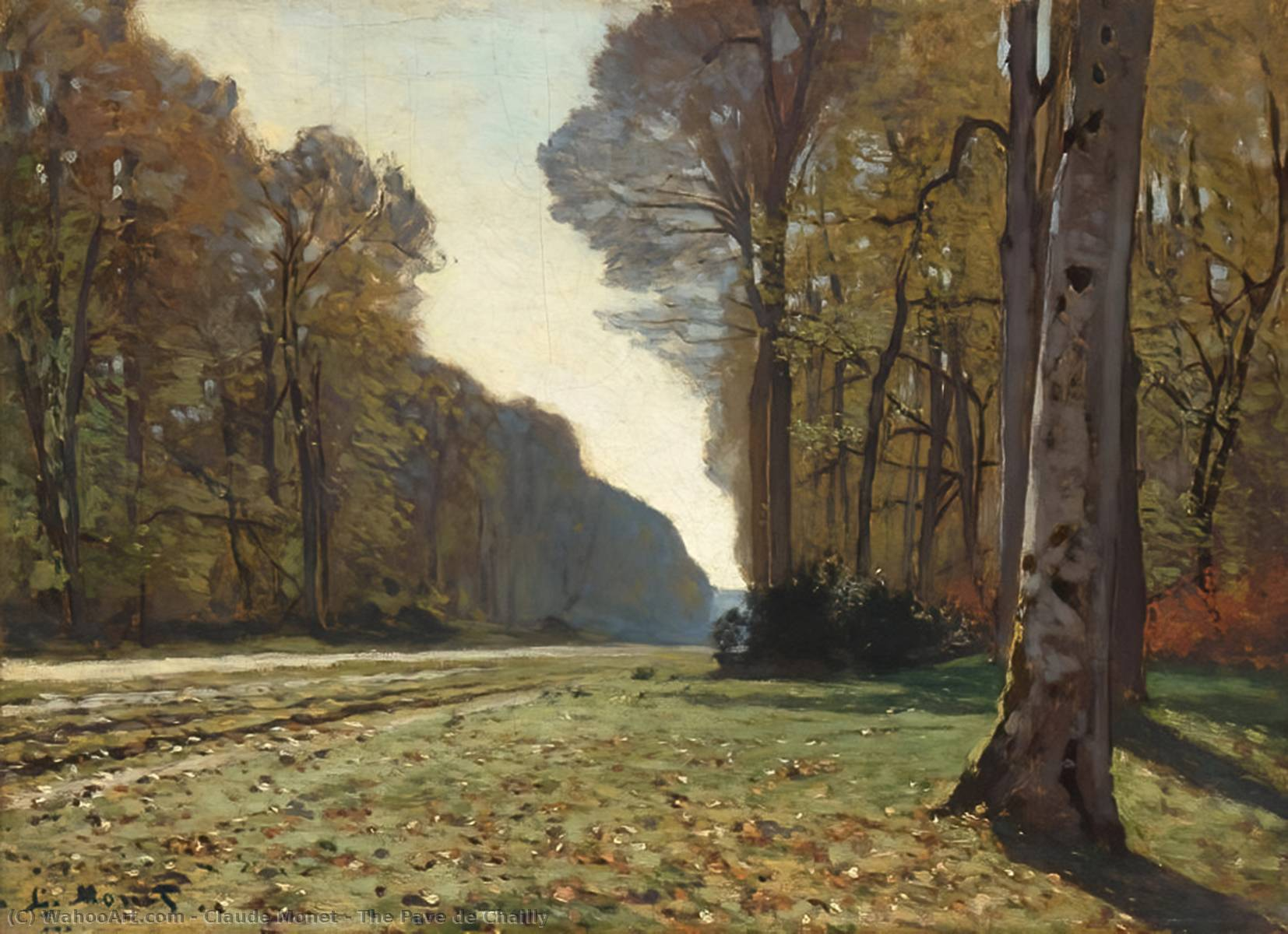 famous painting The Pave de Chailly of Claude Monet
