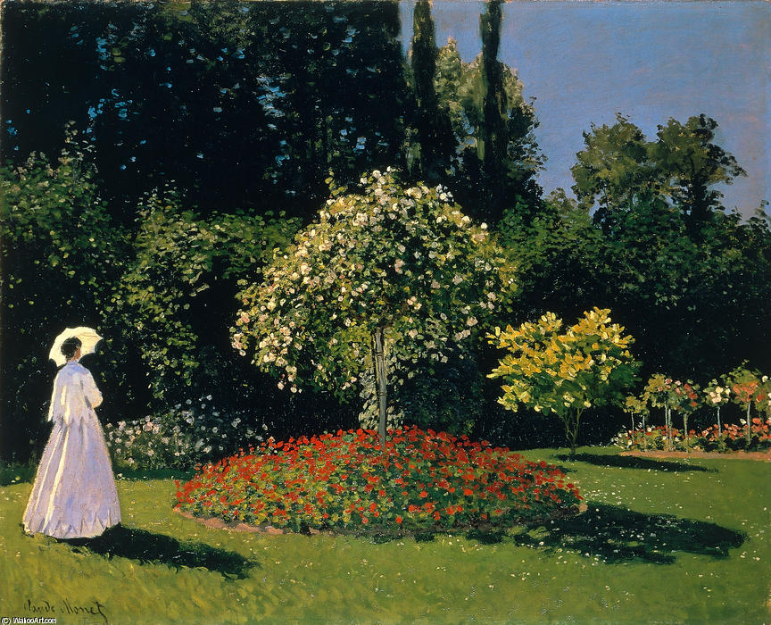 Order Paintings Reproductions Impressionism | Jeanne-Marguerite Lecadre in the Garden by Claude Monet | TopImpressionists.com