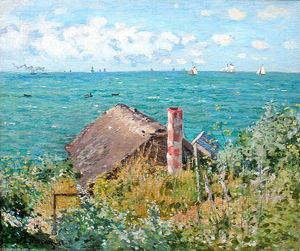 Claude Monet - The Cabin at Saint-Adresse