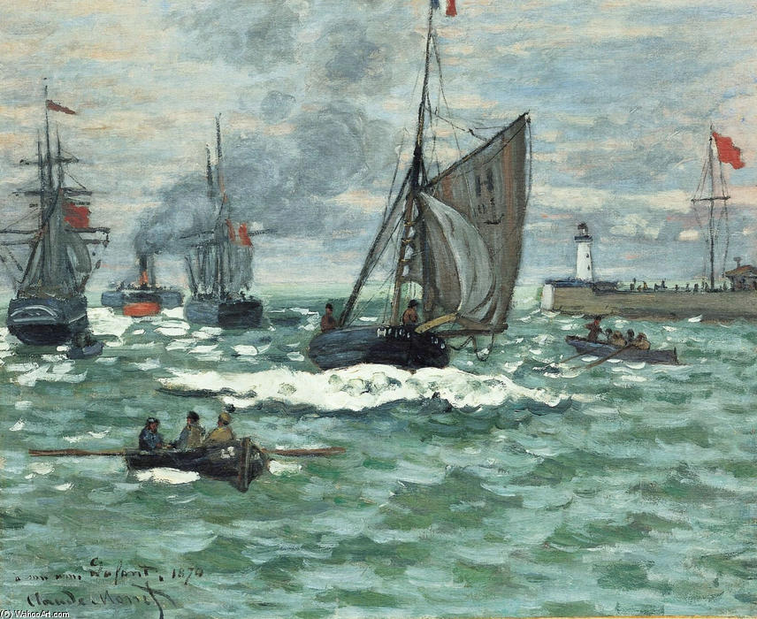 famous painting Entrance to the Port of Honfleur of Claude Monet