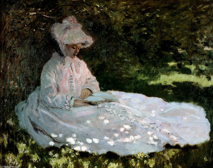famous painting A Woman Reading of Claude Monet