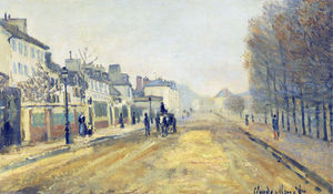 Claude Monet - The Boulevard Heloise in Argenteuil