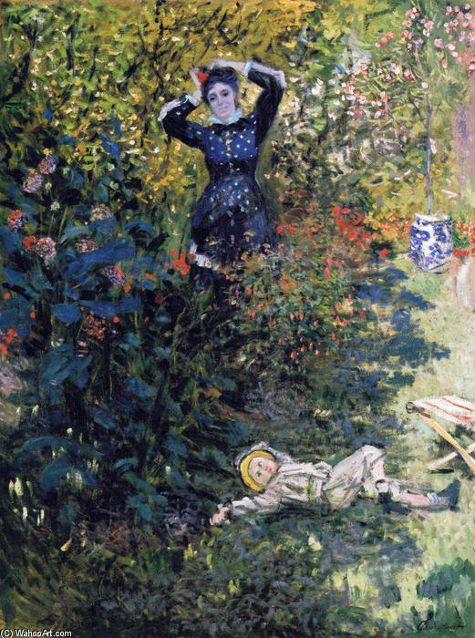 famous painting Camille and Jean Monet in the Garden at Argenteuil of Claude Monet