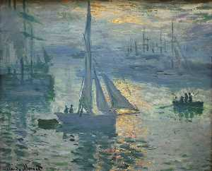 Claude Monet - Sunrise, The Sea
