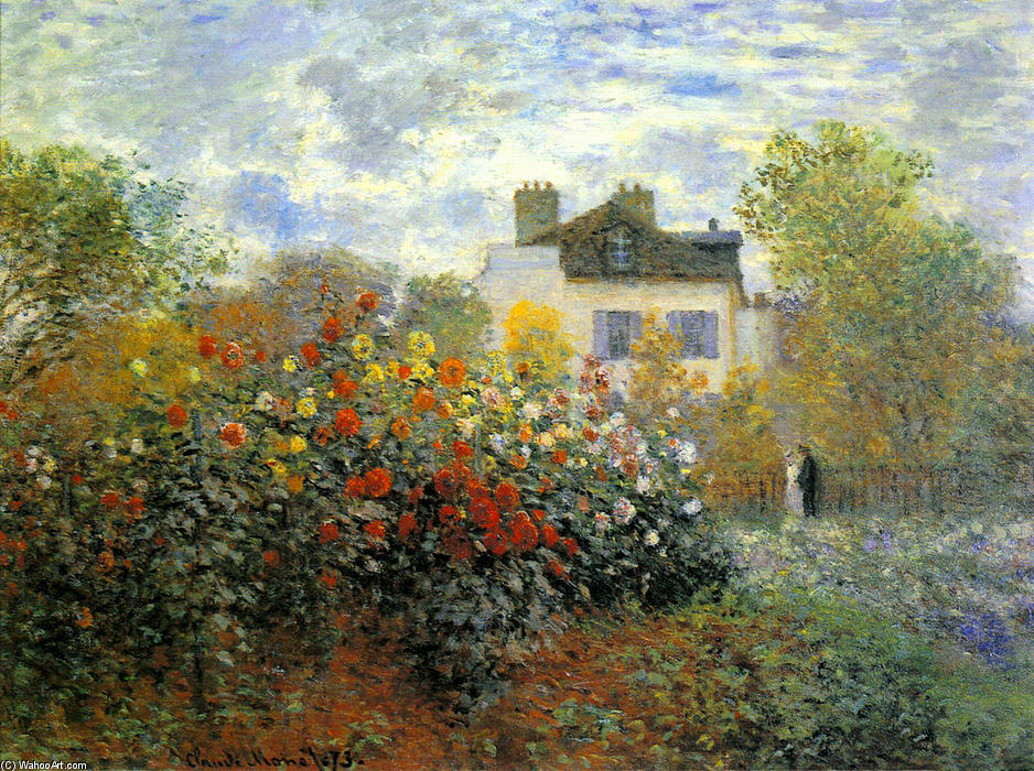 famous painting The Garden of Monet at Argenteuil of Claude Monet