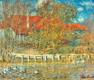 Claude Monet - The Pond with Ducks in Autumn