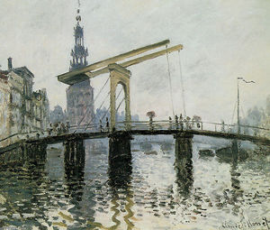 Claude Monet - The Bridge, Amsterdam